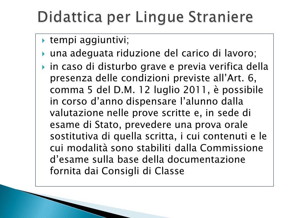 Didattica per Lingue Straniere