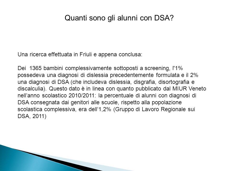 Quanti sono gli alunni con DSA