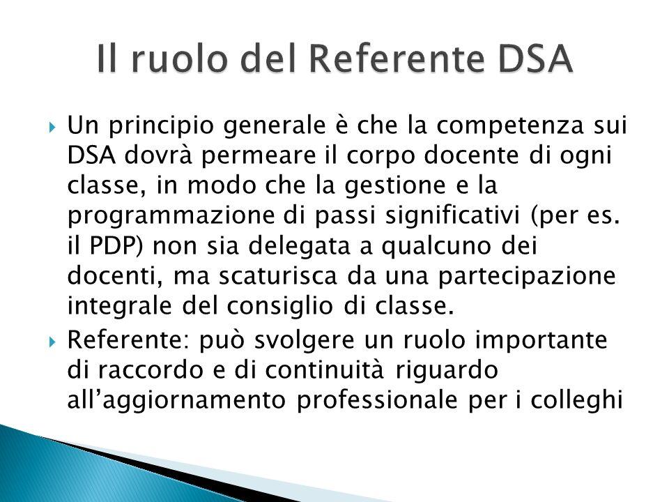 Il ruolo del Referente DSA