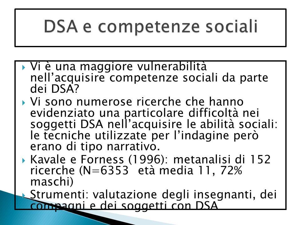 DSA e competenze sociali