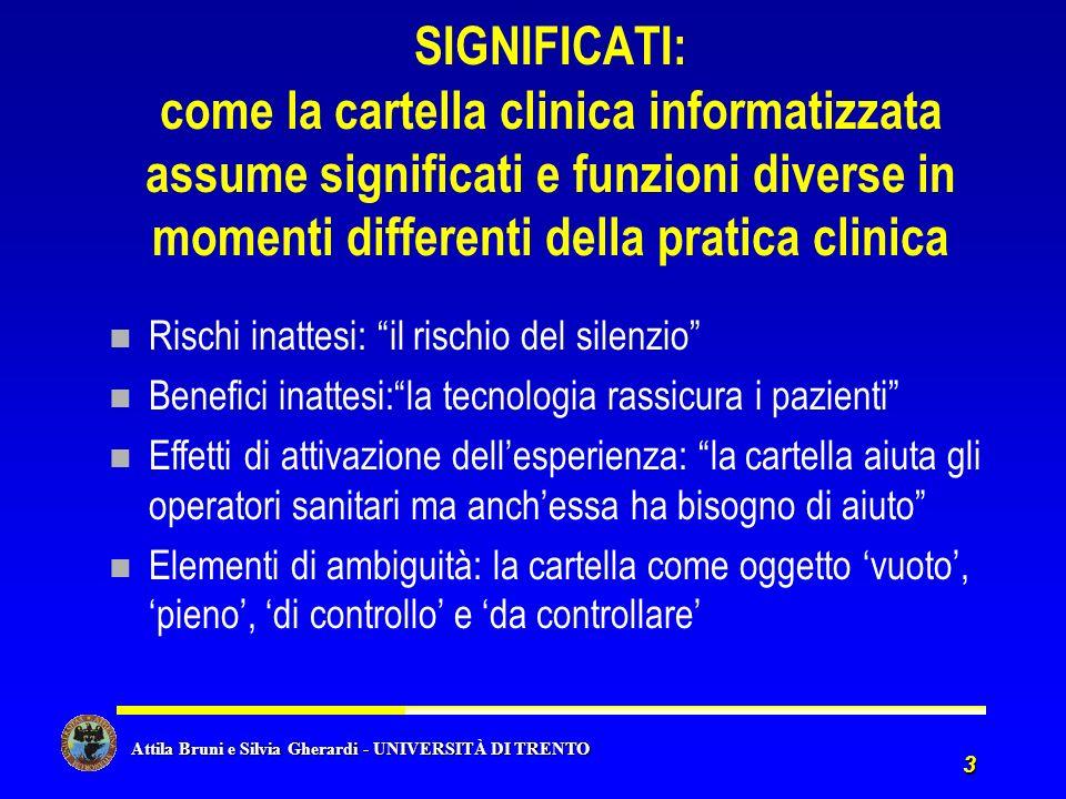 SIGNIFICATI: come la cartella clinica informatizzata assume significati e funzioni diverse in momenti differenti della pratica clinica