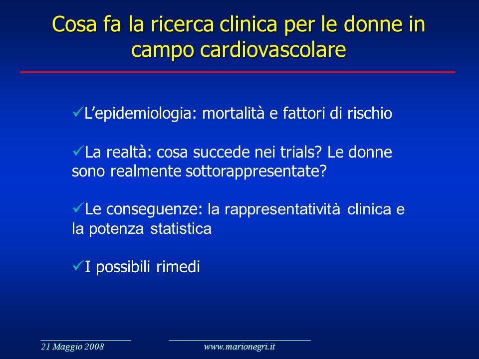 Cosa fa la ricerca clinica per le donne in campo cardiovascolare