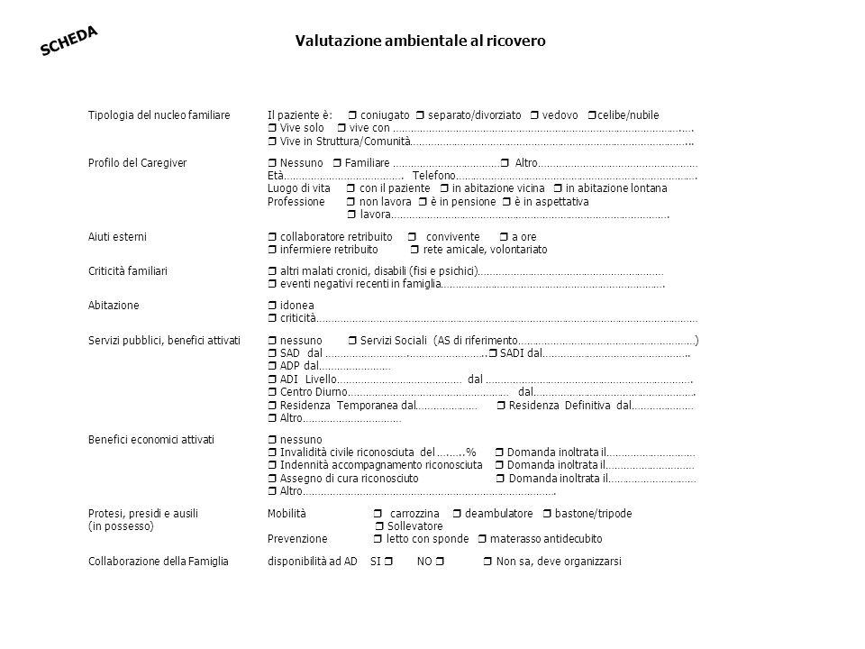 Valutazione ambientale al ricovero