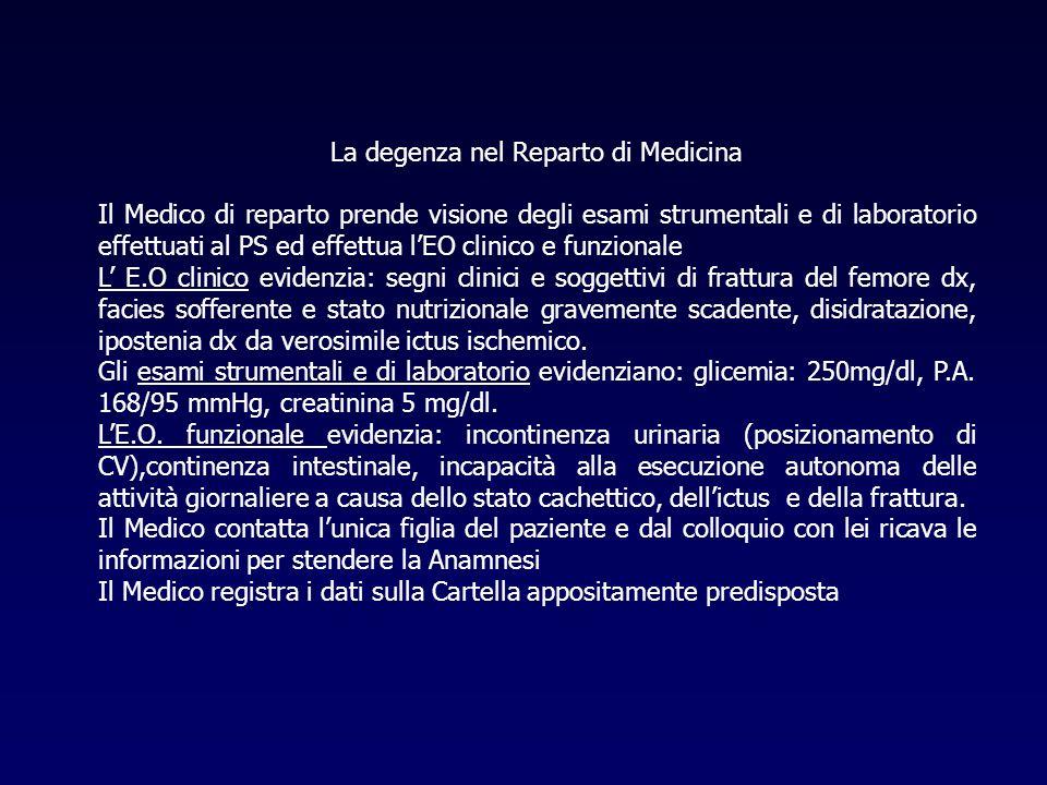 La degenza nel Reparto di Medicina