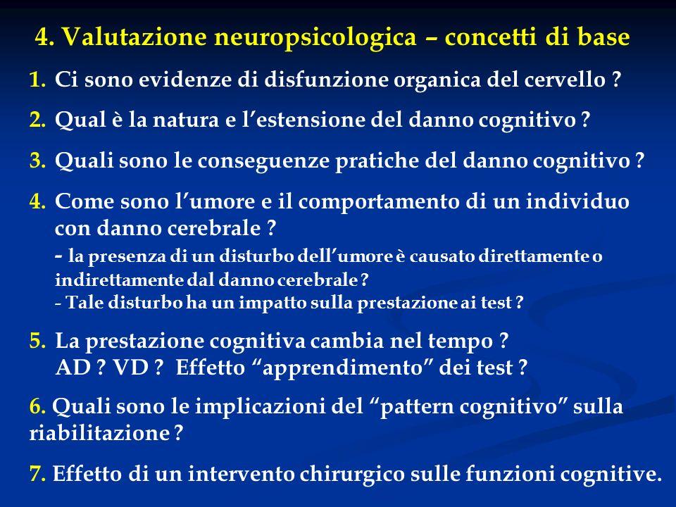 4. Valutazione neuropsicologica – concetti di base