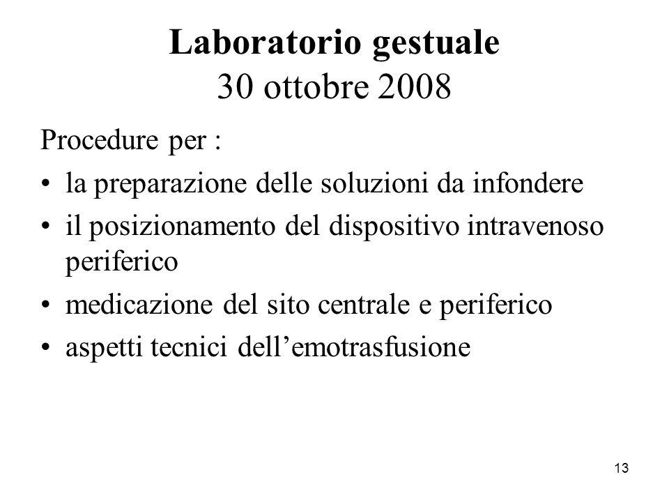Laboratorio gestuale 30 ottobre 2008