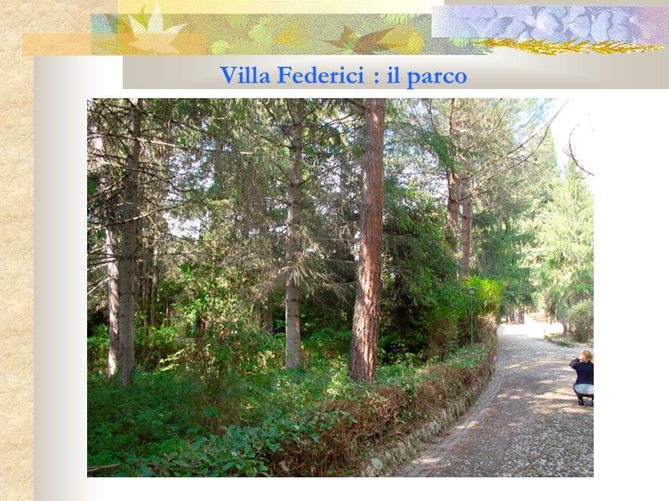 Villa Federici : il parco