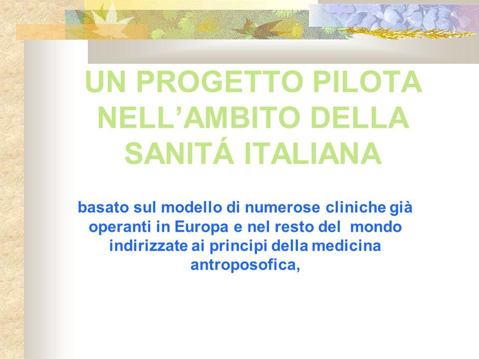 UN PROGETTO PILOTA NELL'AMBITO DELLA SANITÁ ITALIANA