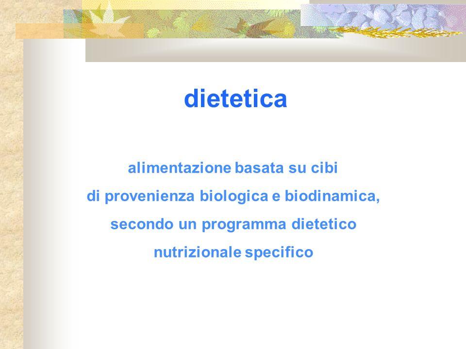 dietetica alimentazione basata su cibi