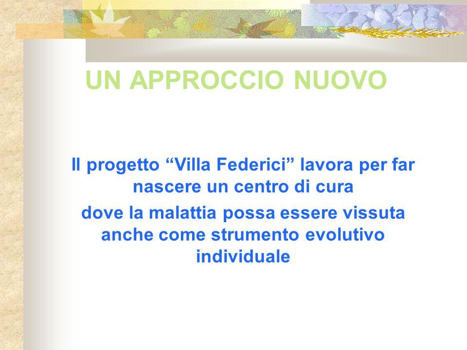 Il progetto Villa Federici lavora per far nascere un centro di cura