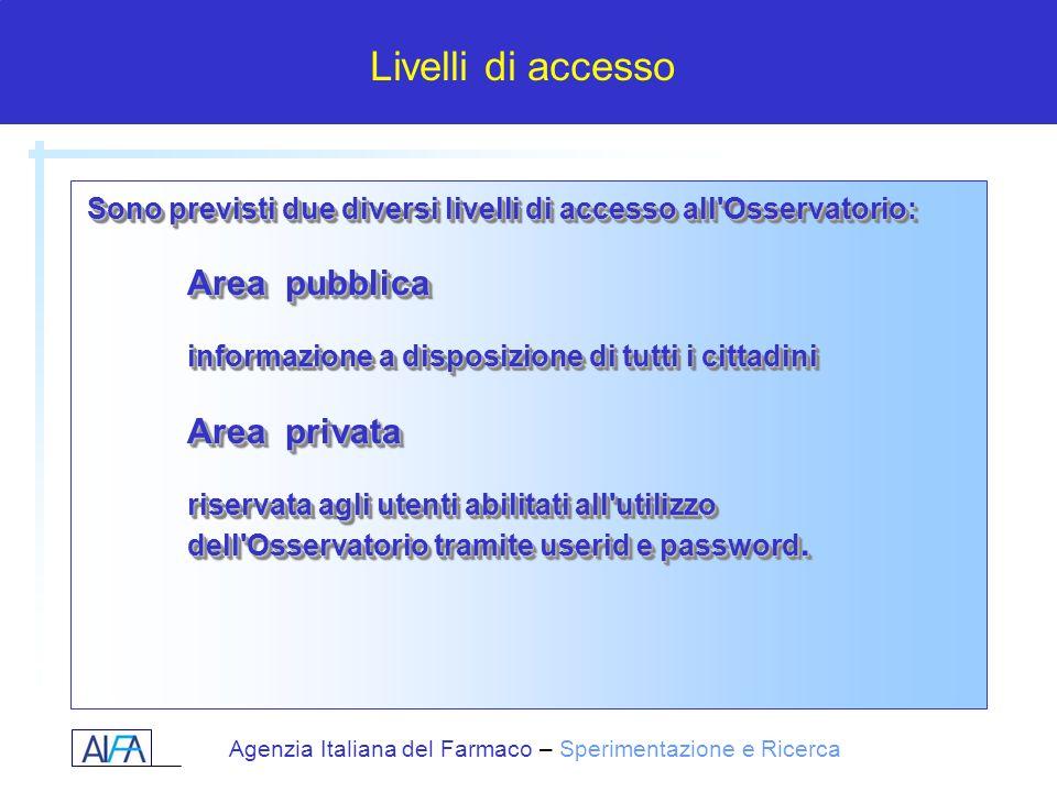 Sono previsti due diversi livelli di accesso all Osservatorio:
