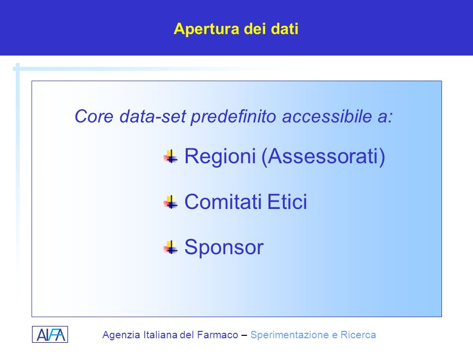 Regioni (Assessorati) Comitati Etici Sponsor