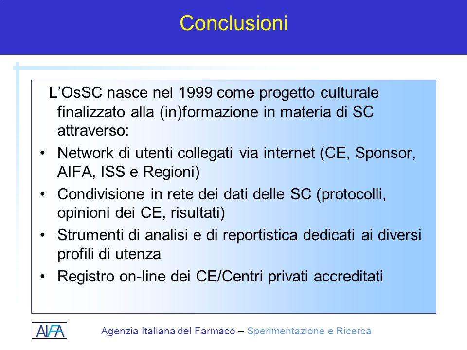 Conclusioni L'OsSC nasce nel 1999 come progetto culturale finalizzato alla (in)formazione in materia di SC attraverso: