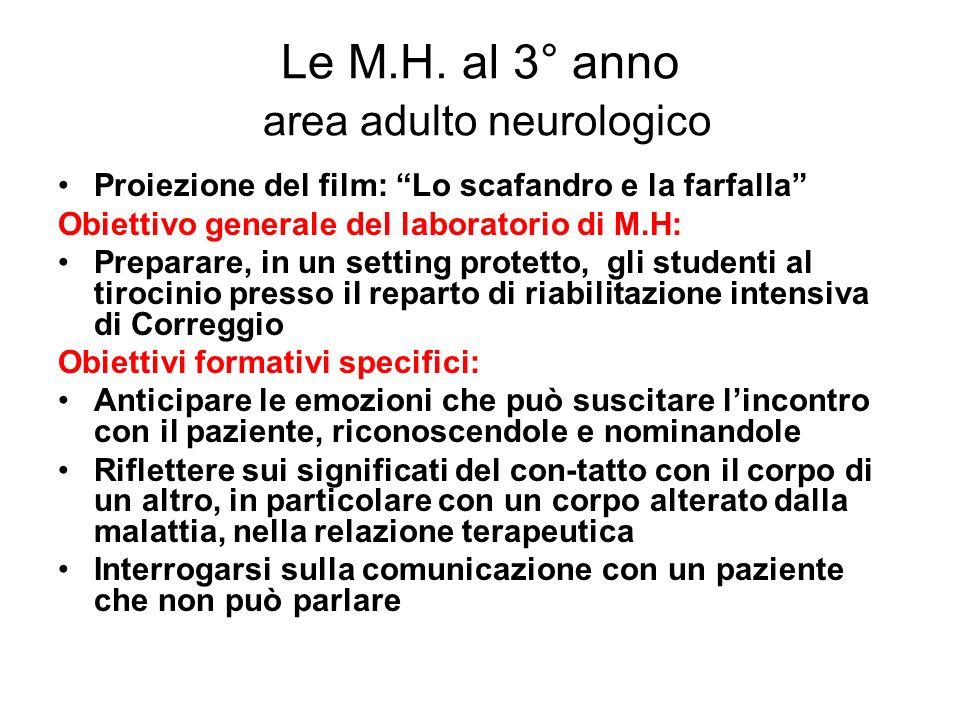 Le M.H. al 3° anno area adulto neurologico