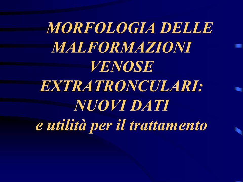 MORFOLOGIA DELLE MALFORMAZIONI VENOSE EXTRATRONCULARI: NUOVI DATI e utilità per il trattamento
