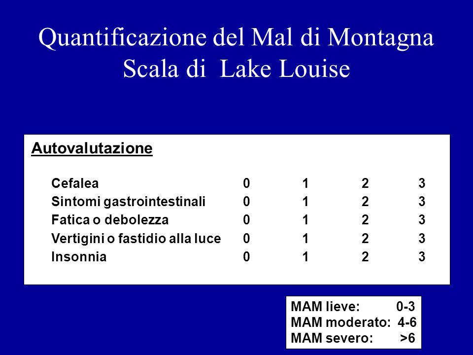 Quantificazione del Mal di Montagna Scala di Lake Louise