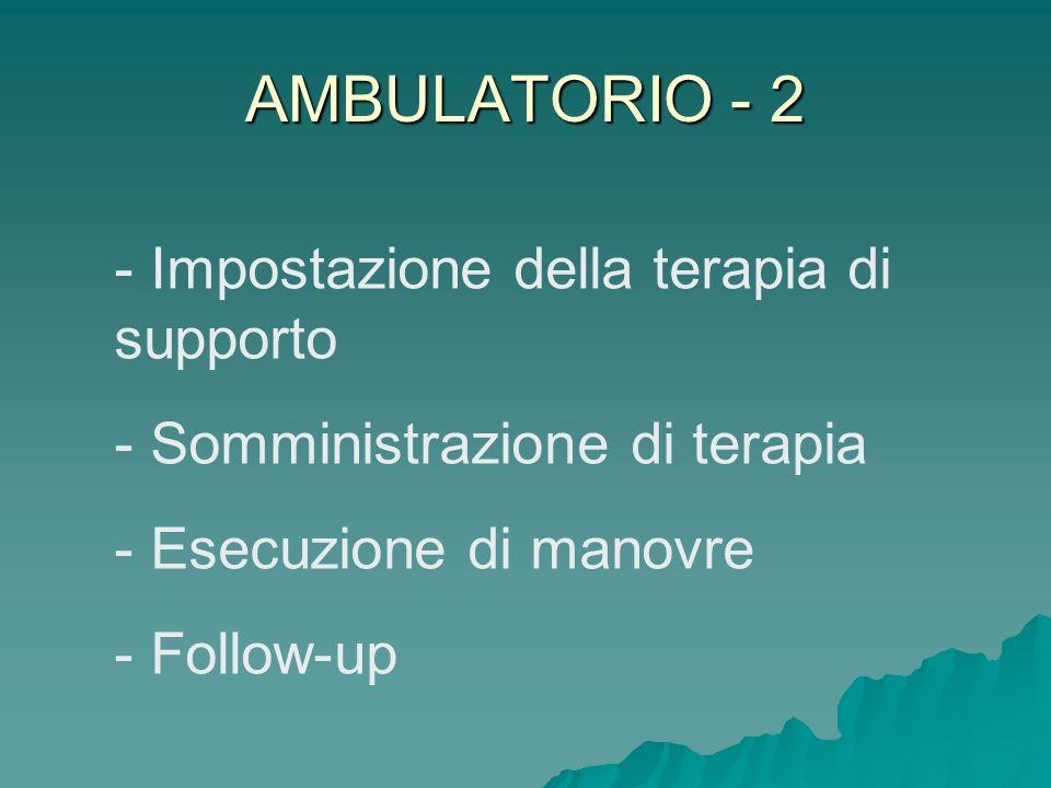 AMBULATORIO - 2 Impostazione della terapia di supporto
