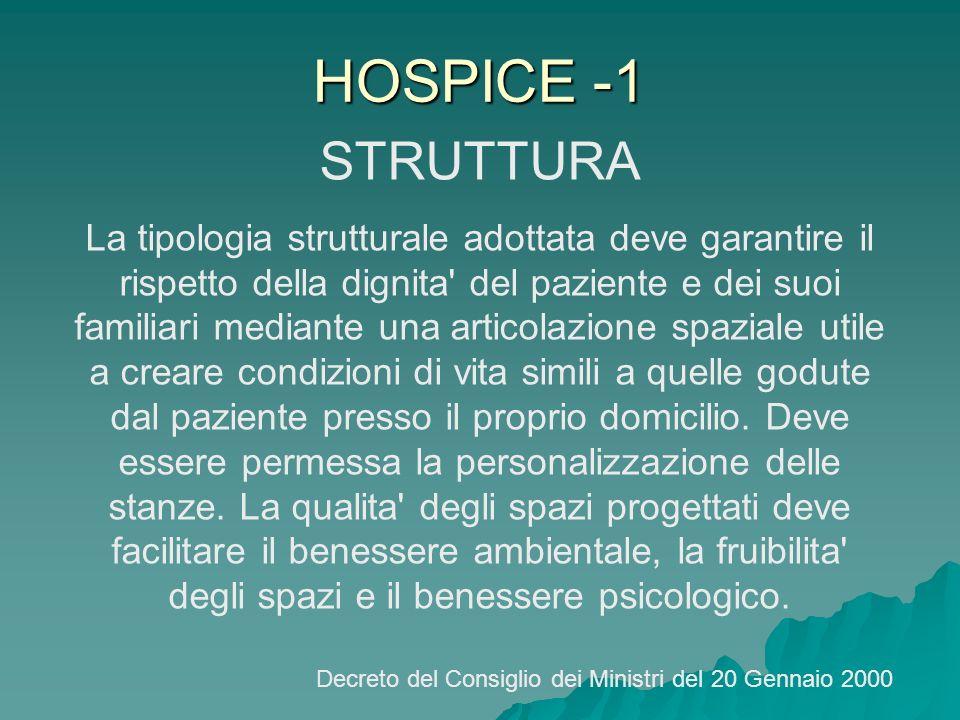 HOSPICE -1 STRUTTURA.