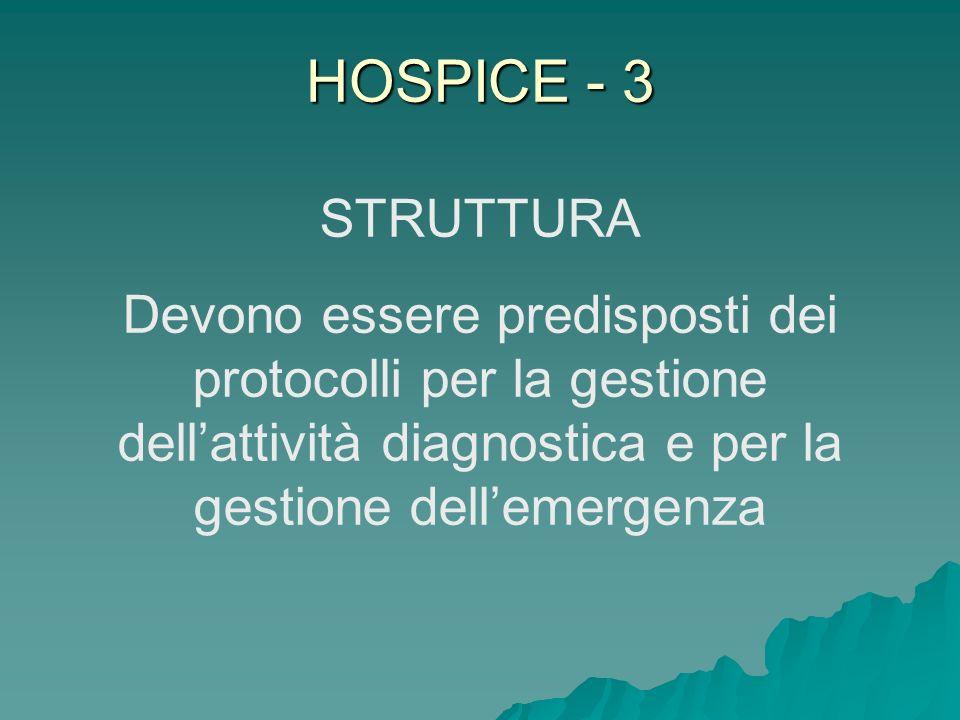 HOSPICE - 3 STRUTTURA.