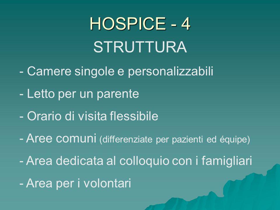 HOSPICE - 4 STRUTTURA - Camere singole e personalizzabili
