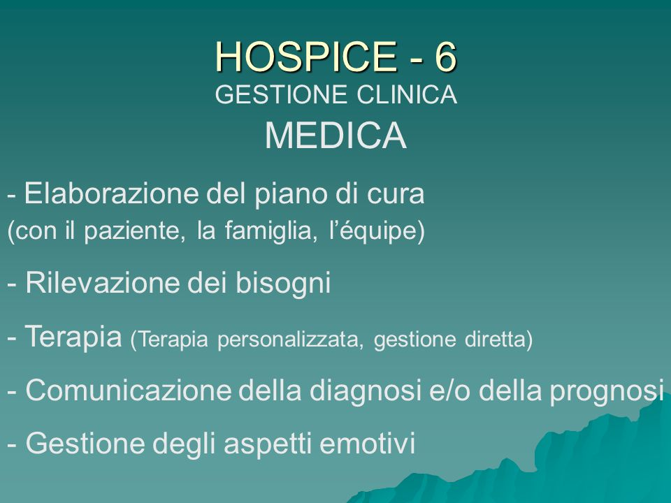 GESTIONE CLINICA MEDICA