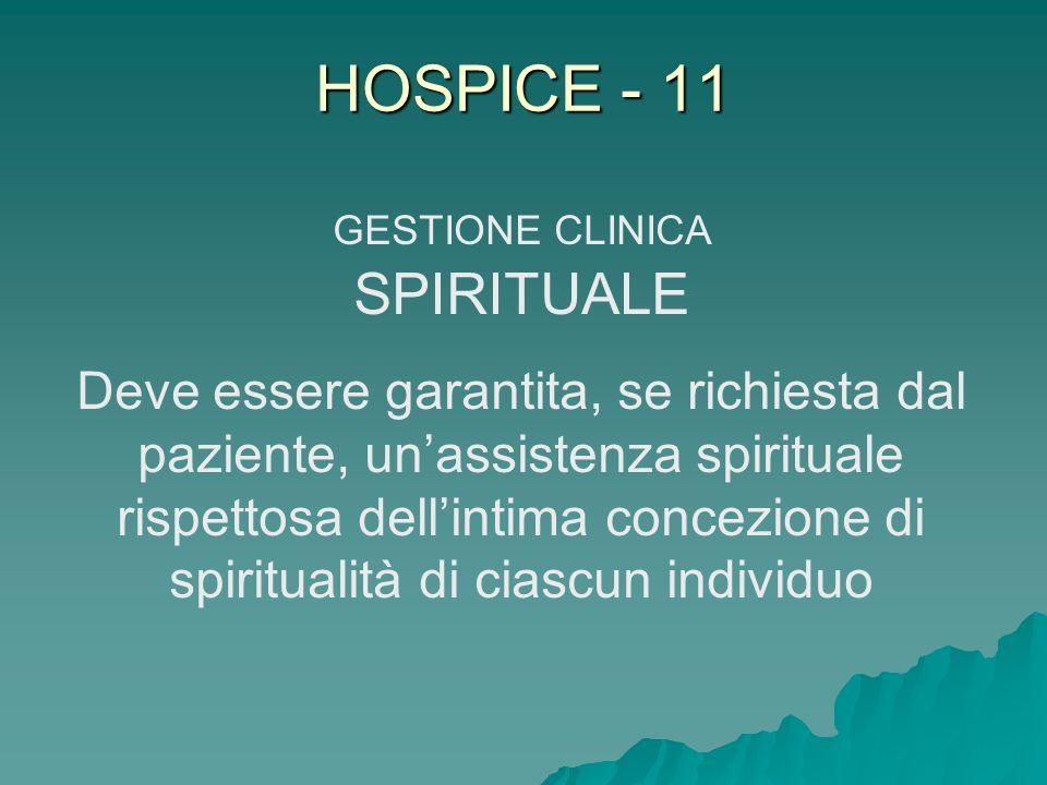 GESTIONE CLINICA SPIRITUALE
