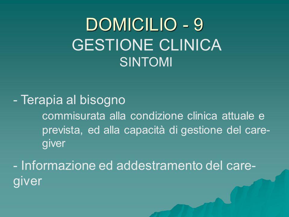 GESTIONE CLINICA SINTOMI