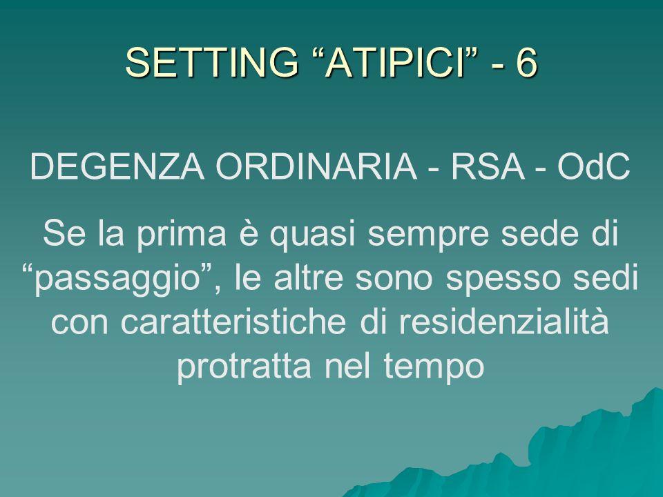 DEGENZA ORDINARIA - RSA - OdC