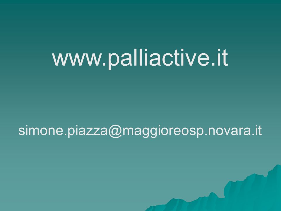 www.palliactive.it simone.piazza@maggioreosp.novara.it