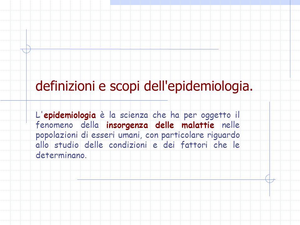definizioni e scopi dell epidemiologia.