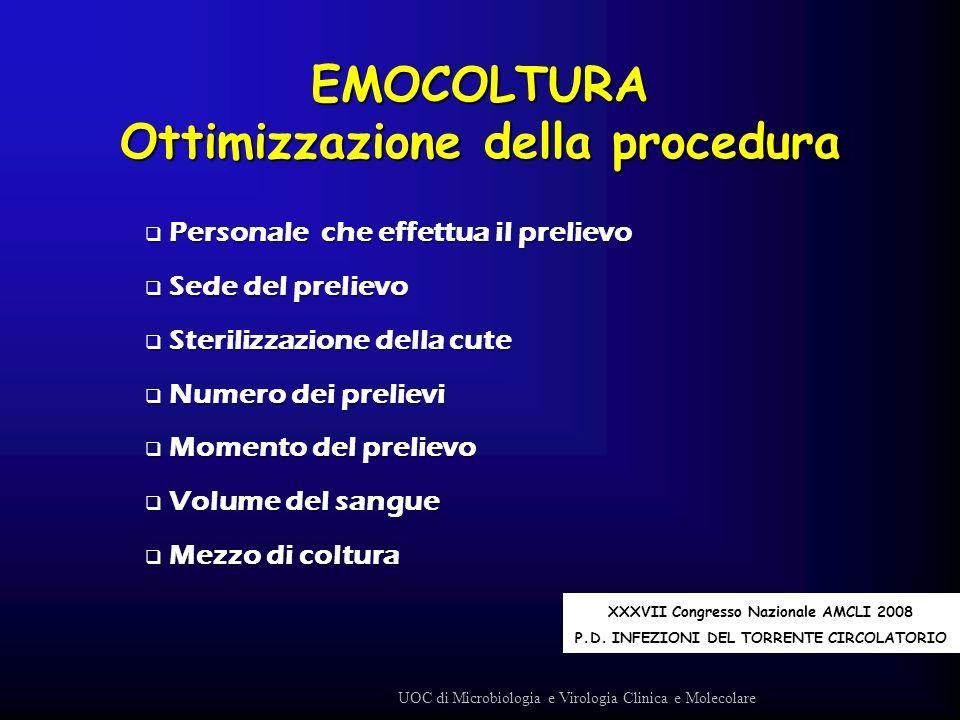 EMOCOLTURA Ottimizzazione della procedura