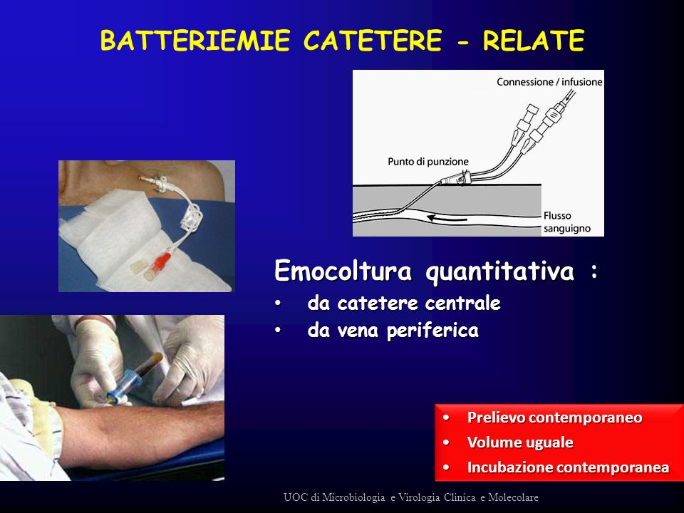 BATTERIEMIE CATETERE - RELATE
