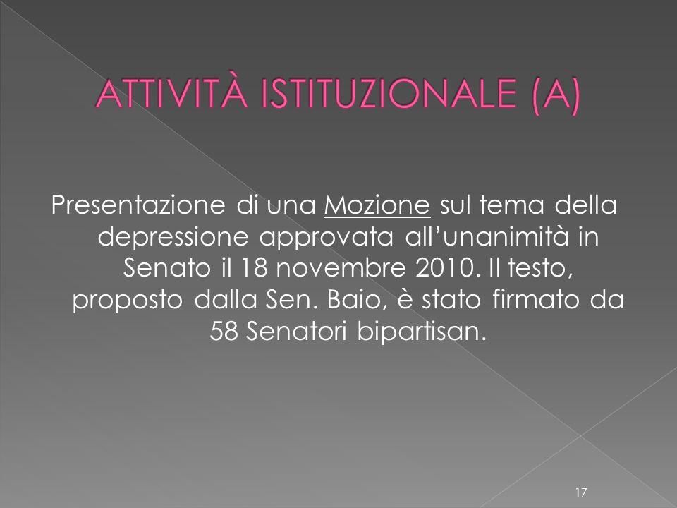 ATTIVITÀ ISTITUZIONALE (A)