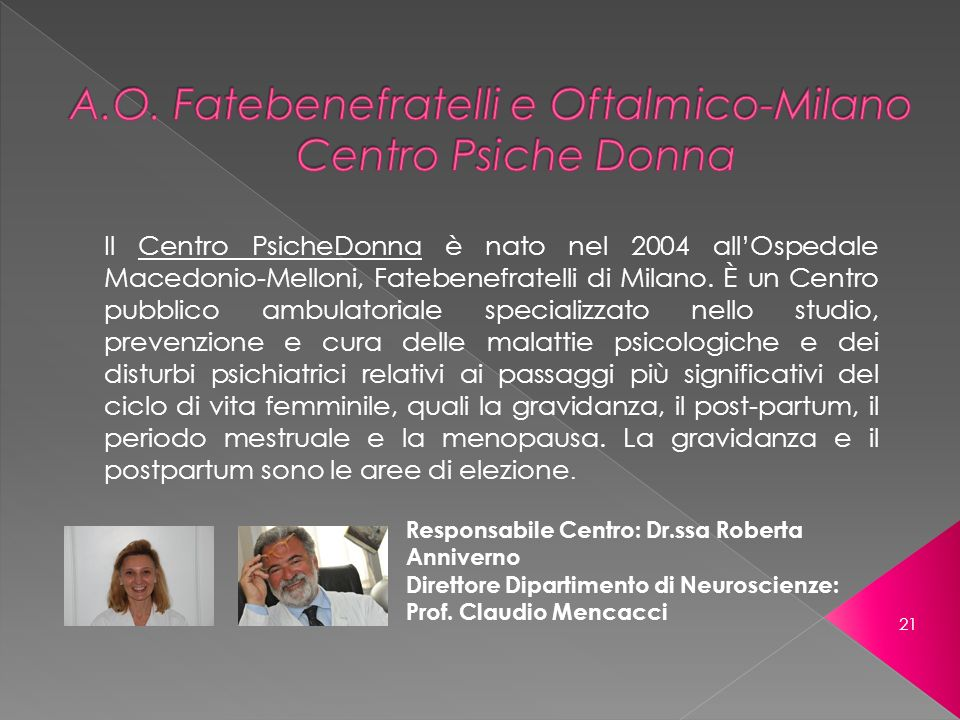 A.O. Fatebenefratelli e Oftalmico-Milano Centro Psiche Donna