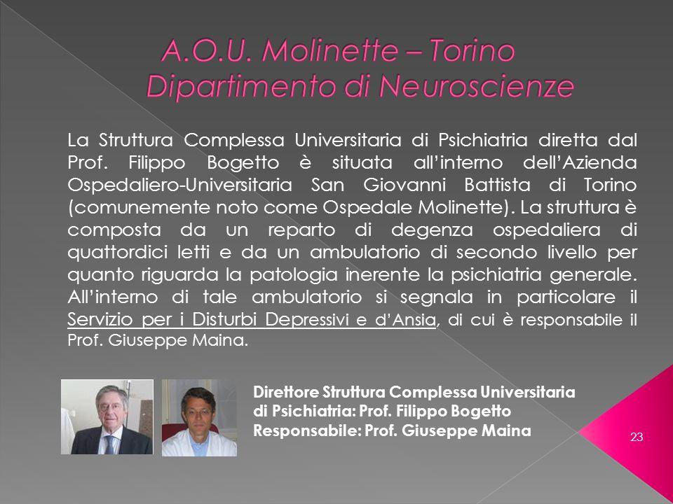 A.O.U. Molinette – Torino Dipartimento di Neuroscienze