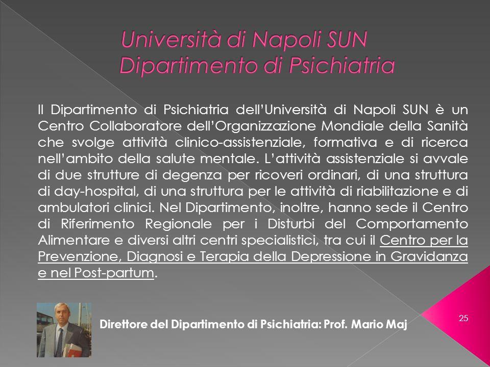 Università di Napoli SUN Dipartimento di Psichiatria