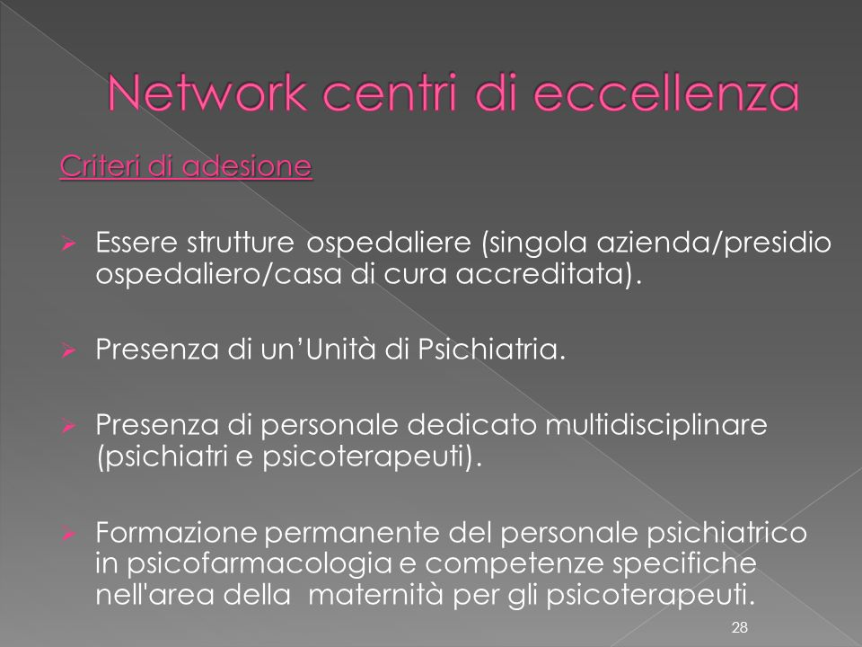 Network centri di eccellenza