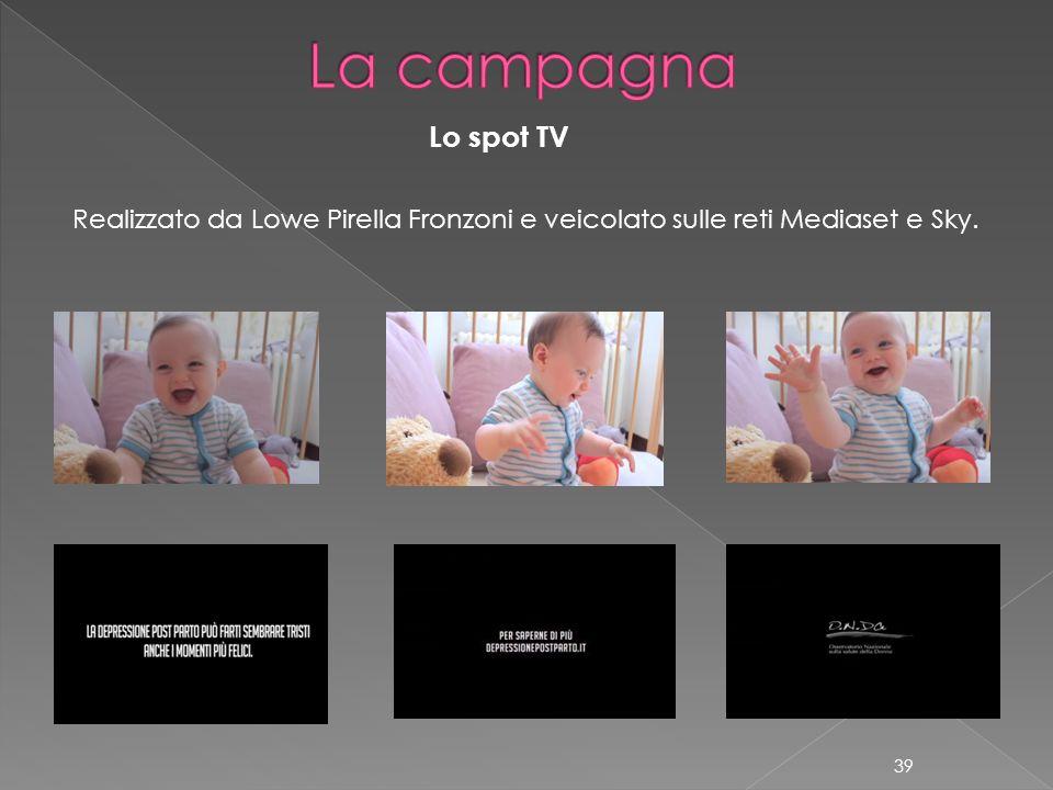 La campagna Lo spot TV Realizzato da Lowe Pirella Fronzoni e veicolato sulle reti Mediaset e Sky.