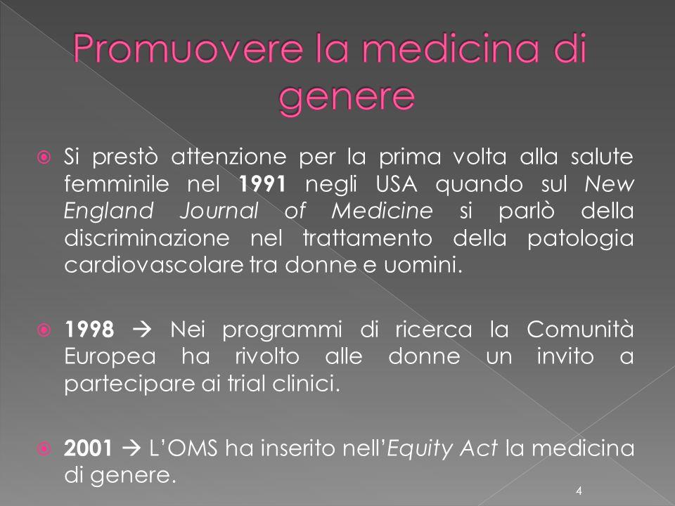 Promuovere la medicina di genere