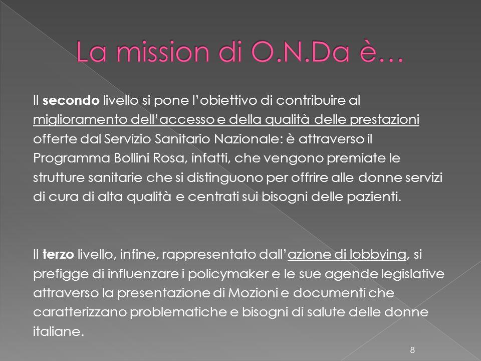 La mission di O.N.Da è…