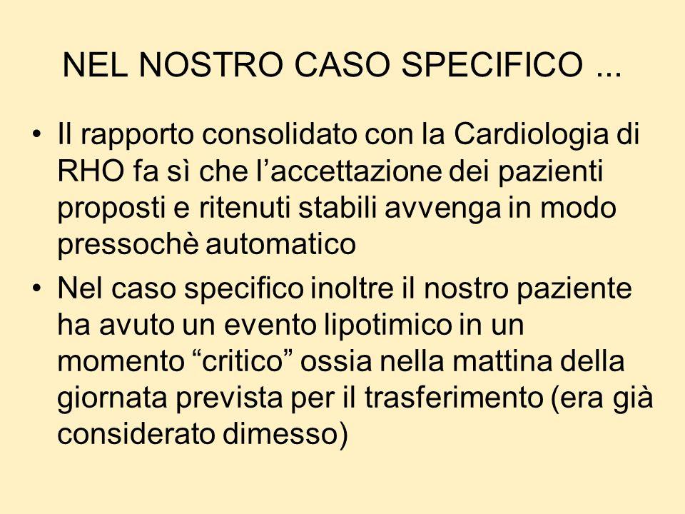 NEL NOSTRO CASO SPECIFICO ...