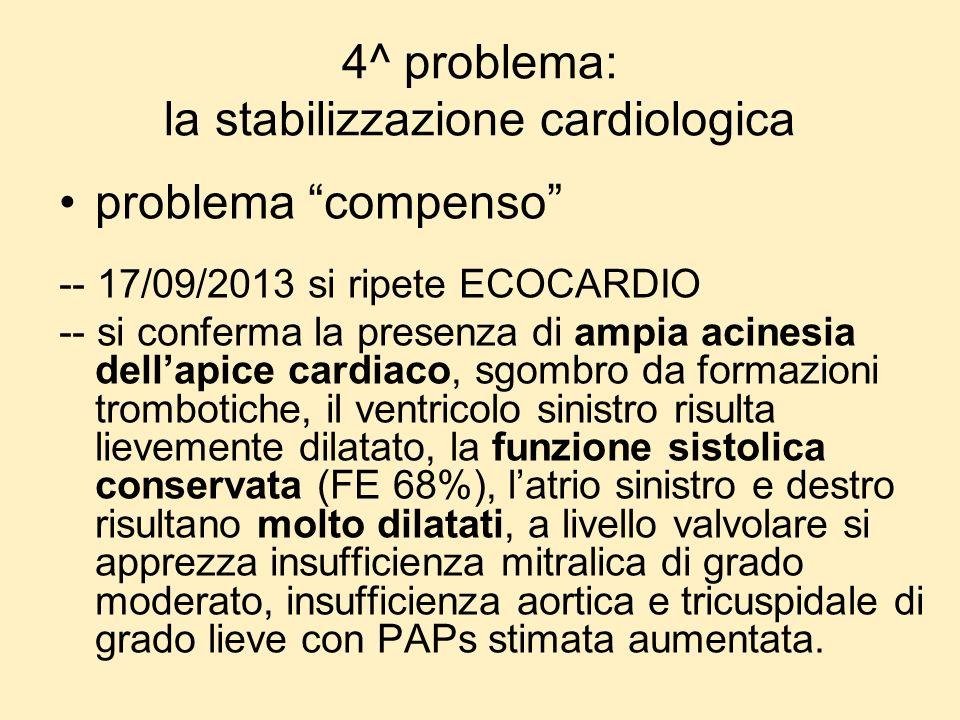 4^ problema: la stabilizzazione cardiologica