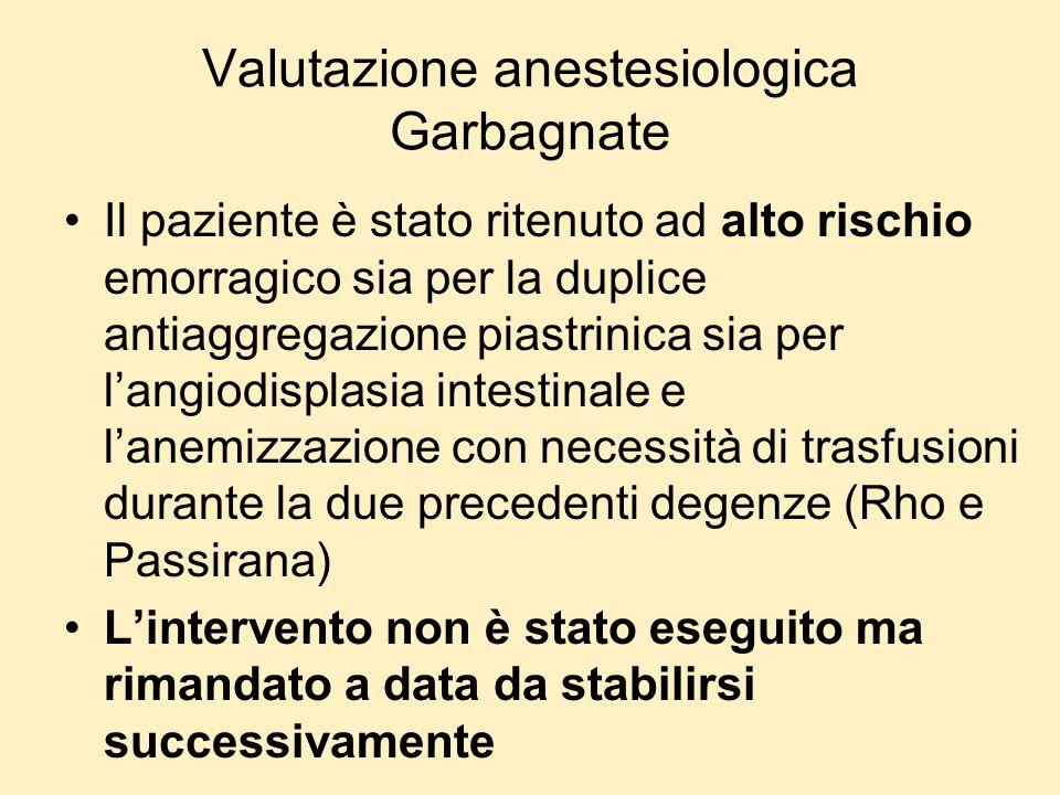 Valutazione anestesiologica Garbagnate