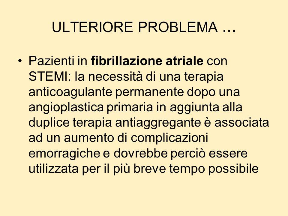 ULTERIORE PROBLEMA ...