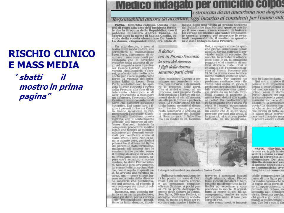 RISCHIO CLINICO E MASS MEDIA