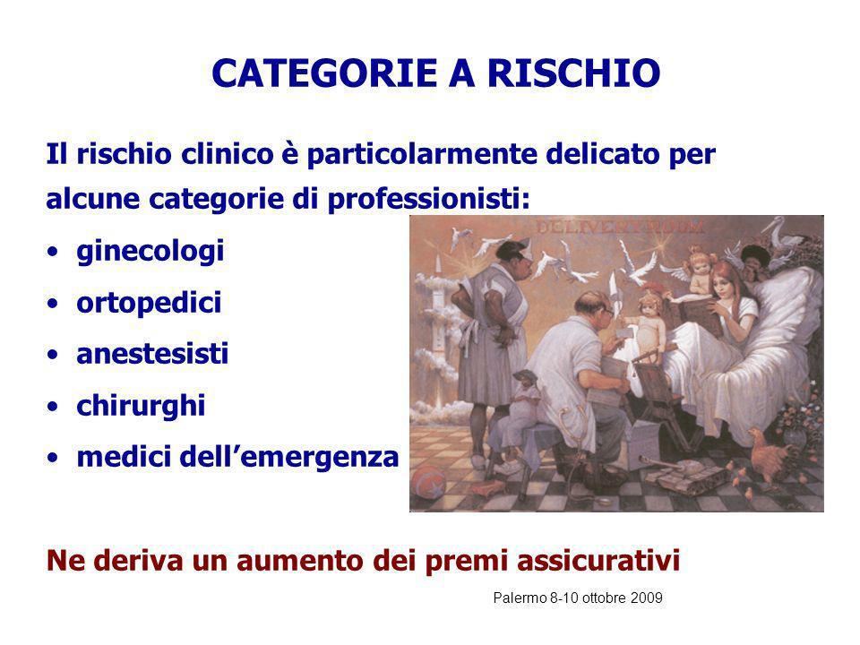 CATEGORIE A RISCHIO ginecologi ortopedici anestesisti chirurghi