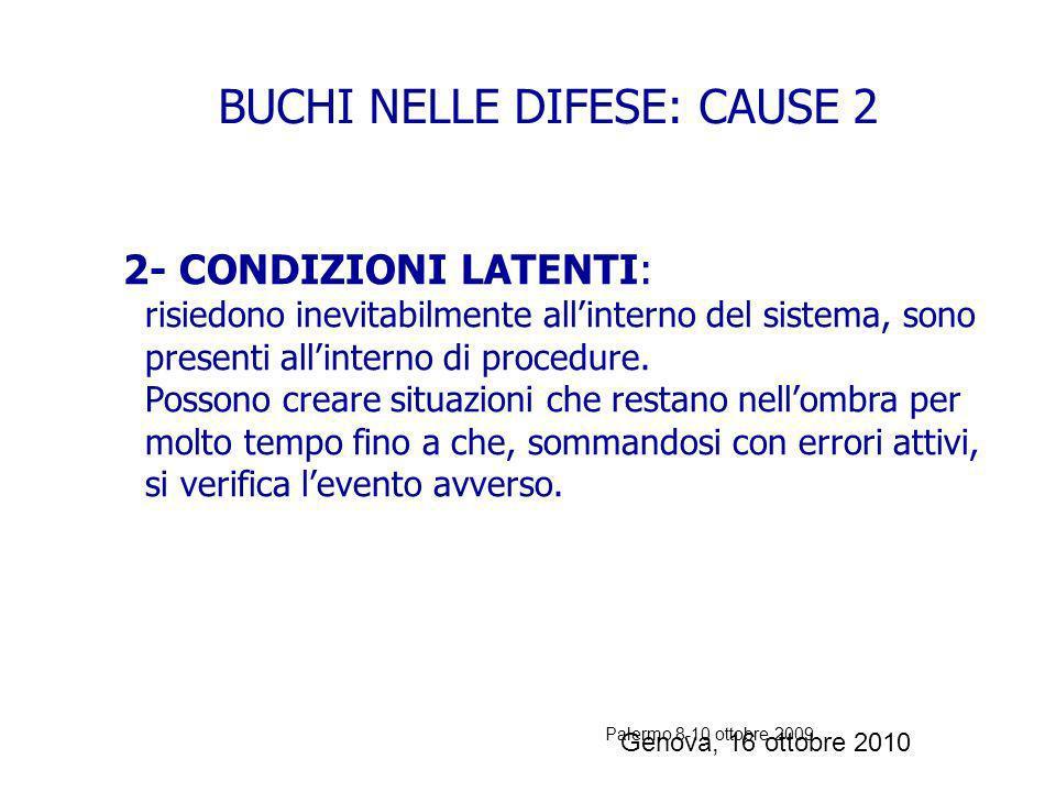 BUCHI NELLE DIFESE: CAUSE 2