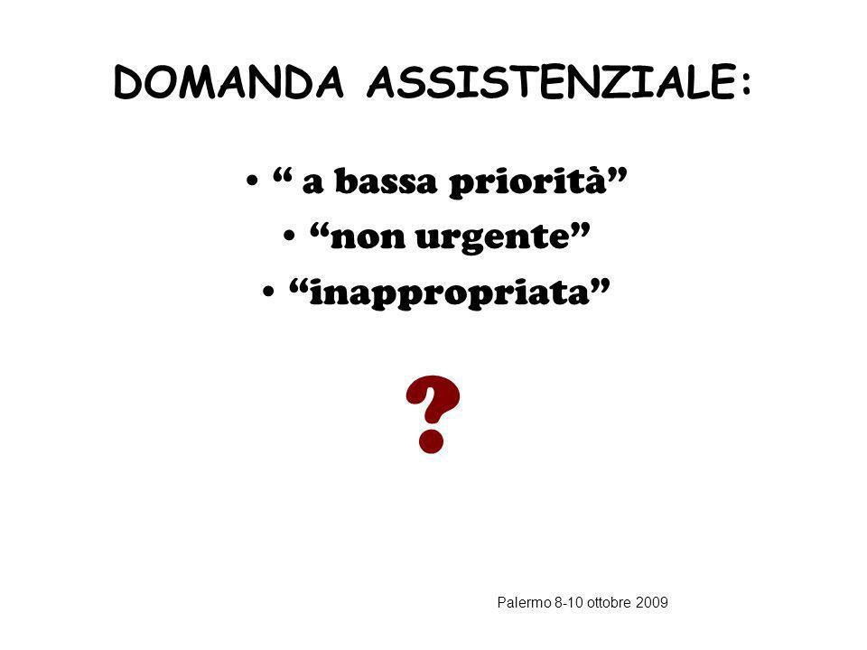 DOMANDA ASSISTENZIALE: