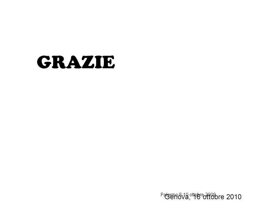 GRAZIE Genova, 16 ottobre 2010