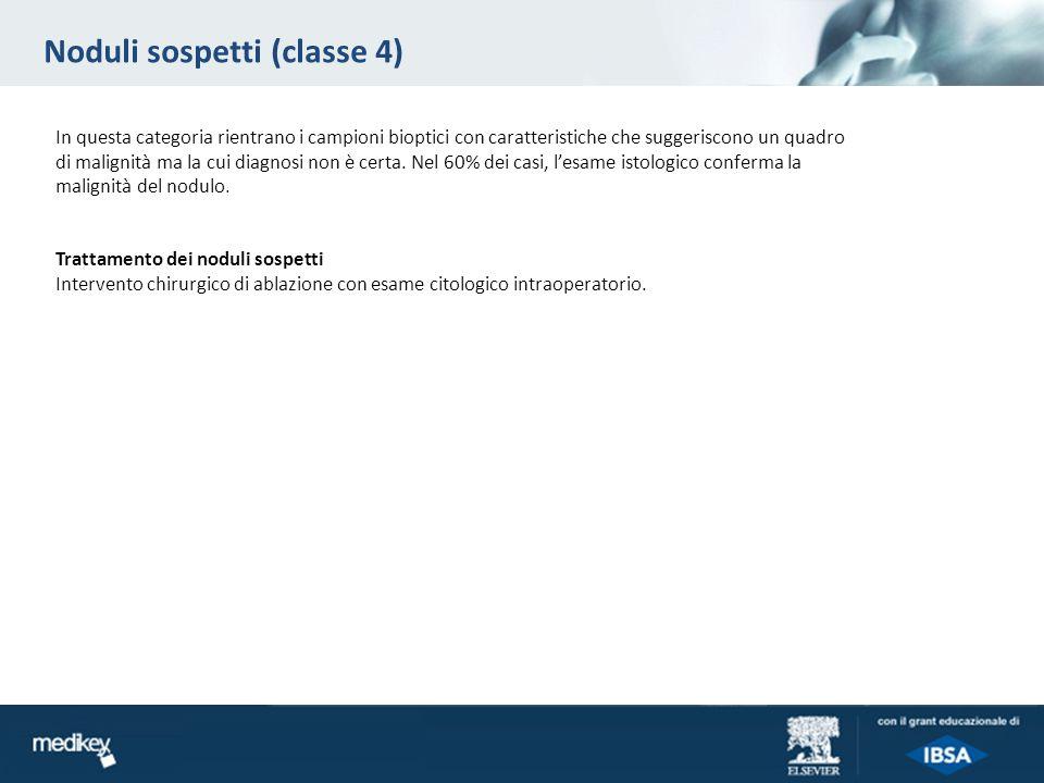 Noduli sospetti (classe 4)
